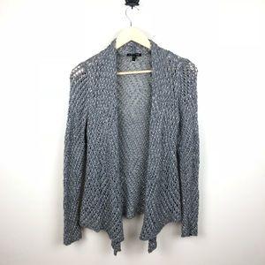 Eileen Fisher Metallic Draped Alpaca Wool Cardigan